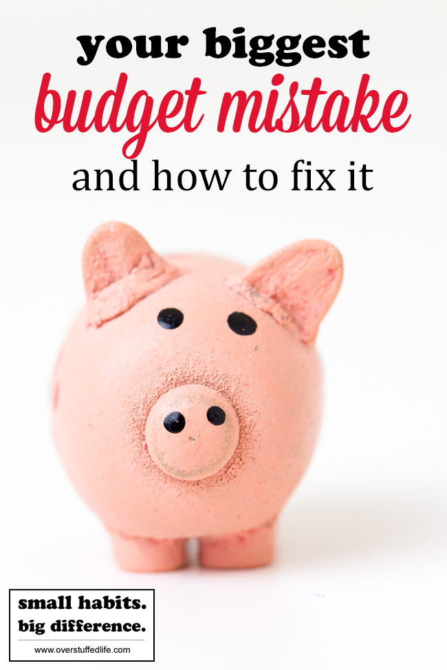 There is a big budgeting mistake that almost everyone makes. Find out what it is and how you can fix it today and have more money in the bank.