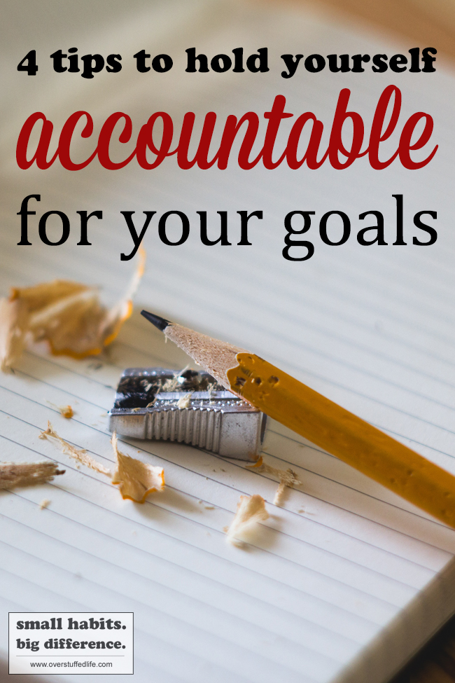 Sometimes it's difficult to establish new habits and attain healthy goals because you aren't accountable to yourself. Try one of these ideas to help you be more accountable and actually start achieving your goals!