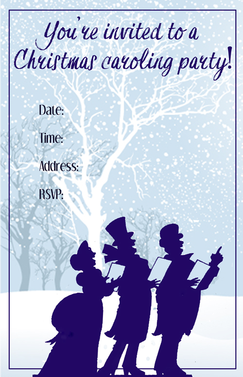 Christmas caroling party invitation | free printable | free download | Light the World | 25 ways in 25 days | How to plan a Christmas Caroling party | Tips for Christmas carolers | holiday party idea | Sing Christmas carols | #LightTheWorld