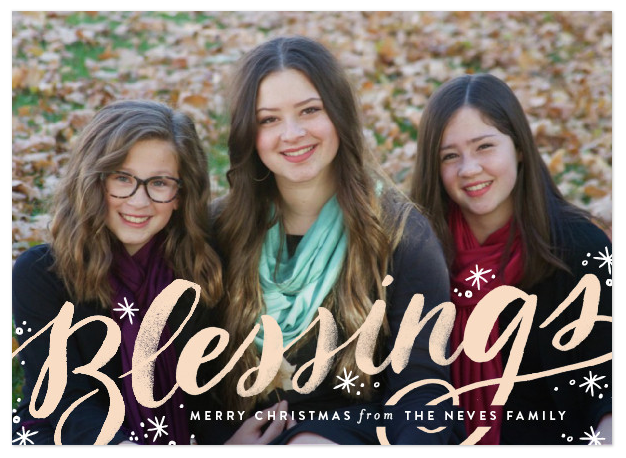 Sweeping Blessings | minted | card design | Christmas card design | designer holiday cards