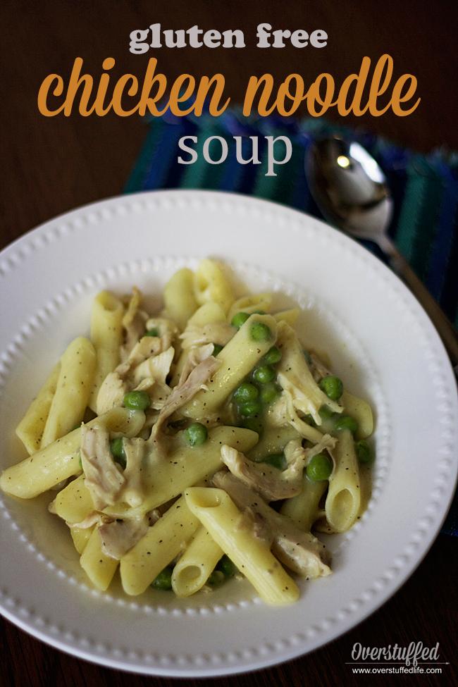 Homemade gluten-free chicken noodle soup recipe | comfort food | pasta | gluten-free meals | gluten free dinner | fall recipe