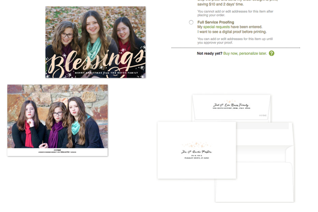 Minted has awesome card personalization