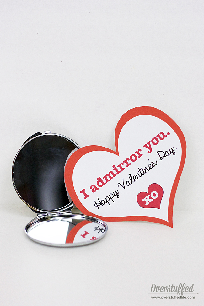 Valentine's Day printable | fun printable for your valentine | DIY valentine idea | I admirror you | from your secret admirer | mirror gift idea