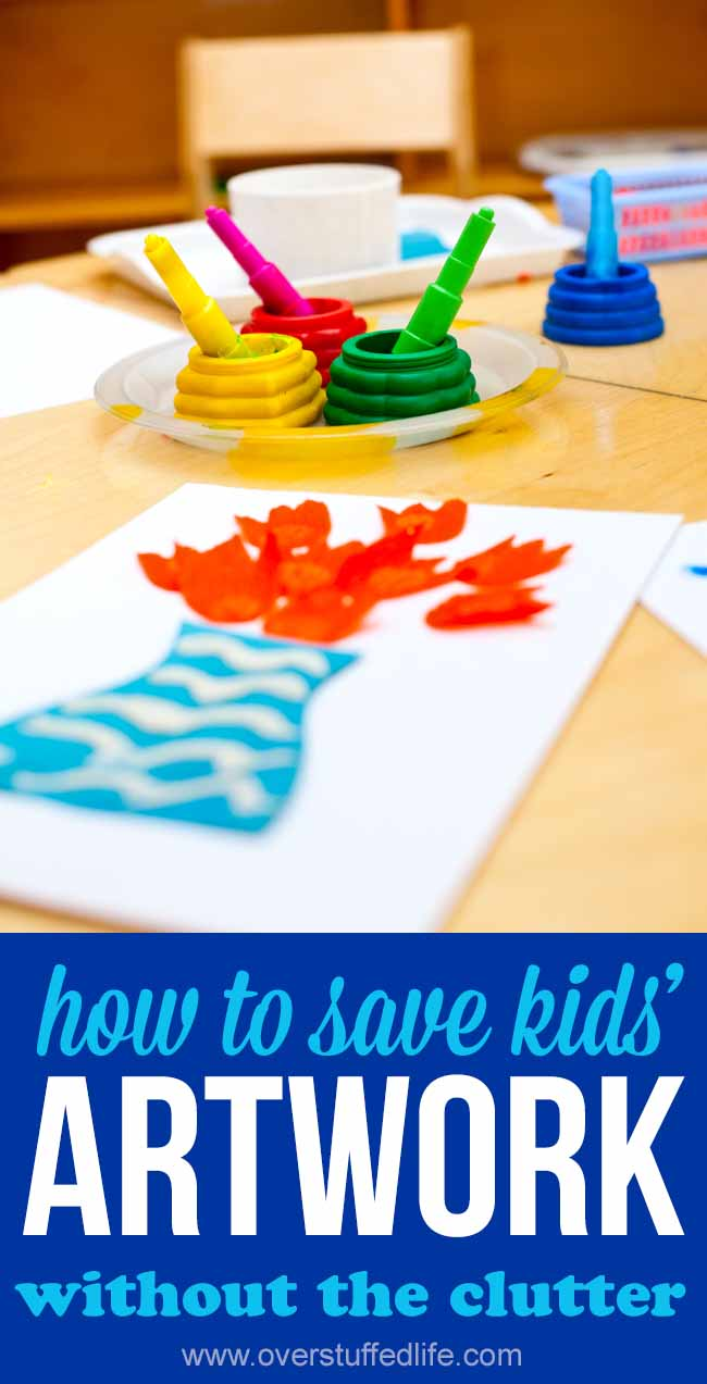 how to save kids' artwork   organize children's school papers   keepy app   clutter free paper   ideas for saving kids' art   tips for keeping your child's art without clutter   Mother's Day gift idea   Father's Day gift idea