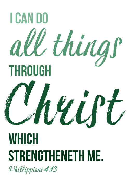 March 2017 visiting teaching free printable handout | Philippians 4:13 | I can do hard things | The Enabling power of Jesus Christ and His Atonement | visiting teaching message March 2017