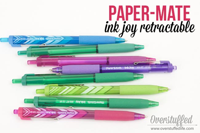 The Paper Mate Ink Joy is a great and inexpensive pen to use with a paper planner.
