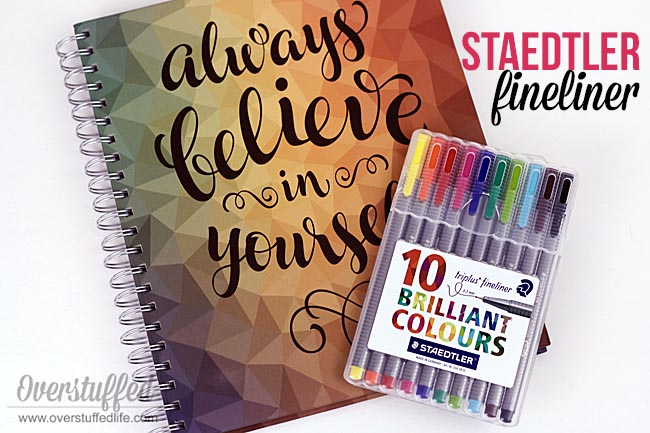 The Staedtler triplus fineliner pen is an excellent pen to use with a paper planner.