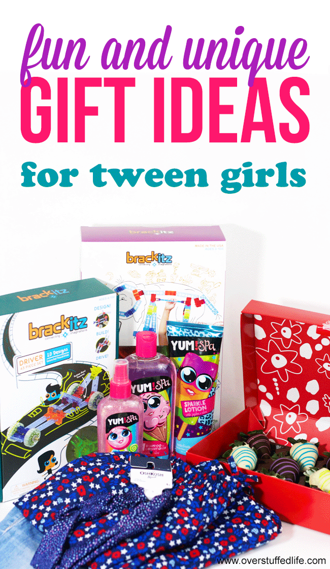 tween gift ideas | fun gifts for tween girls | unique gifts for kids and tweens | OshKosh clothing | Brackitz building set | Edible Arrangements Easter gifts | Yum! Spa bath and body products