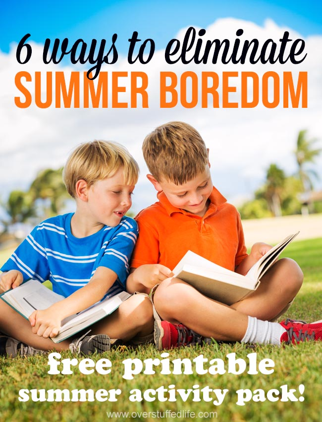 Eliminate summer boredom with this awesome printable summer activity pack | free printables | summer reading for kids | vacation planning | road trip journal | cleaning checklists for kids | summer activity bucket list