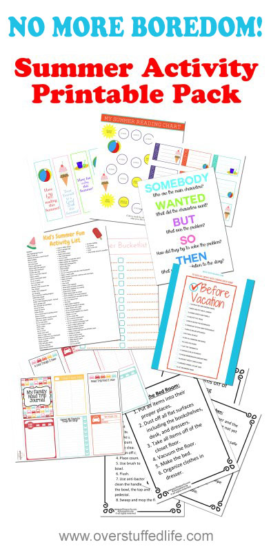 6 free printables to help make your summer easier and boredom free!