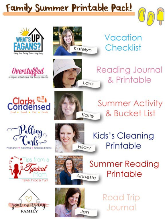 6 bloggers have teamed up to make your summer easier. Get your free summer printables today!