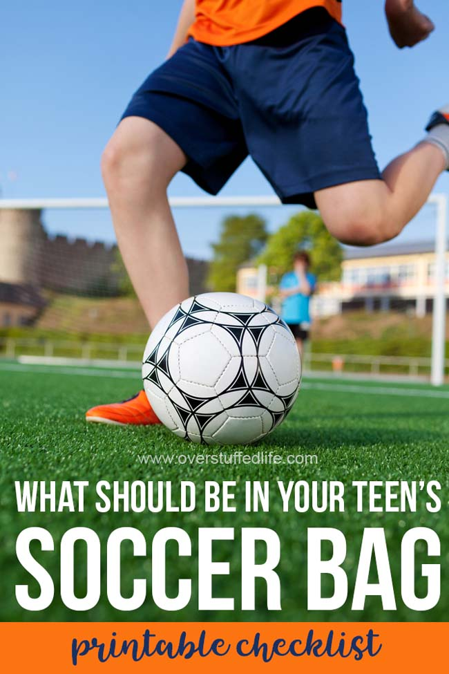 A printable checklist to help your teen be as prepared as possible on the soccer field. Make sure their sports bag has everything they need for home and travel games.