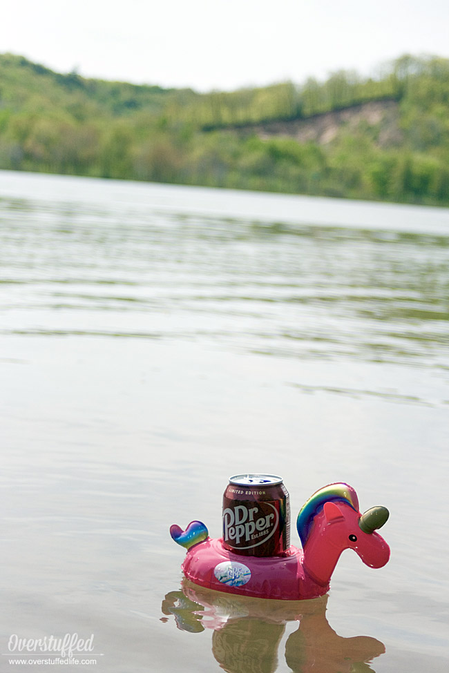 Win this fun Dr Pepper unicorn beverage holder float this summer by purchasing Dr Pepper products at Walmart!