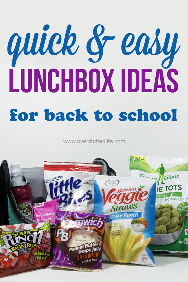 Looking for easy lunchbox ideas? Try these quick and tasty ideas in your kids' lunchboxes this school year.