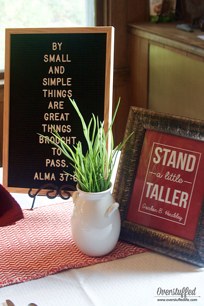 Stand a Little Taller free printable | Alma 37:6 By small and simple things are great things brought to pass | family traditions for back to school
