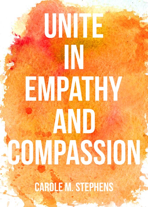 September 2017 visiting teaching printable handout.   Of One Heart visiting teaching message   Unite in Empathy and Compassion   Free Printable