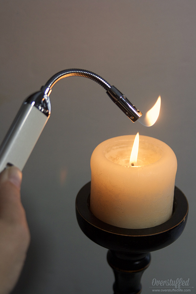 The zippo flex neck lighter makes lighting any candle a lot easier.