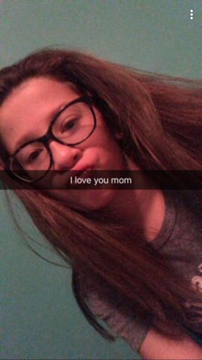 I love you mom Snapchat snap