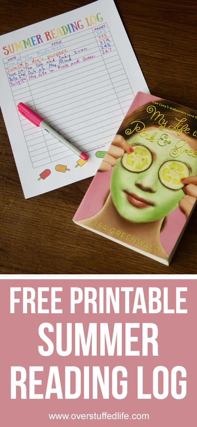 This free printable summer reading log will help your kids keep track of the books they read this summer.