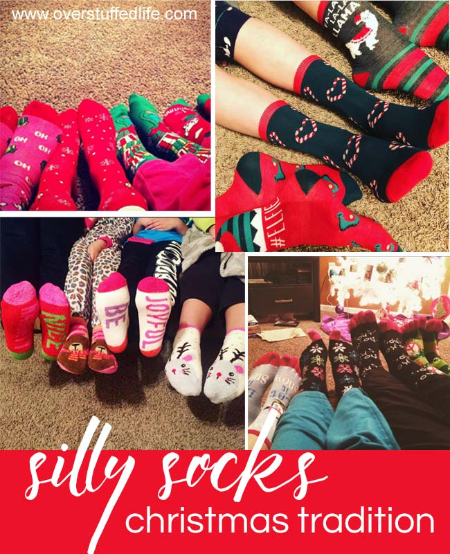Silly Socks and a movie—a fun Christmas tradition to do with your family.