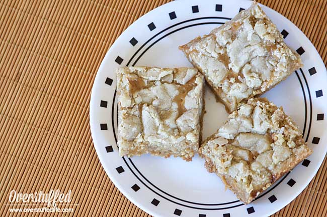 These gluten-free salted caramel cookie bars are so delicious, everyone will want the recipe.