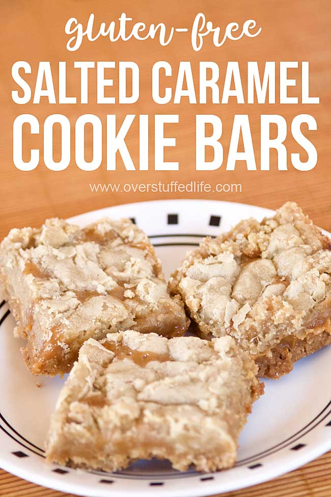 These gluten free caramel cookie bars feature a salted caramel filling sandwiched between a shortbread cookie crust is a perfect dessert for caramel lovers. They are so good that everyone will be asking for the recipe!