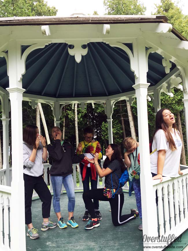 The gazebo from Somewhere in Time is fun to visit on Mackinac Island