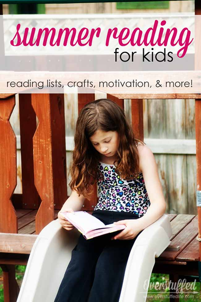 Reading lists, incentives, and ideas to get your kids excited about reading this summer! #overstuffedlife